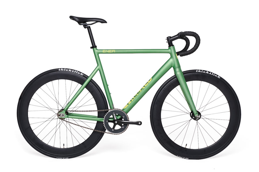 Bike Fixie Freexed ENEA Matte Green Rims 60 mm